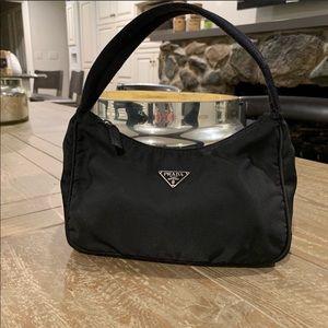 Prada Black Tessuto Nylon Mini Hobo Bag
